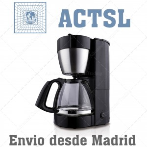 Cafetera 10-12 tazas negra