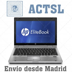 "HP Elite 2560p i5 2.5Ghz / 8Gb / 250Gb / 12.5"" / W.Cam / Teclado Internacinal / Windows 7 Pro"