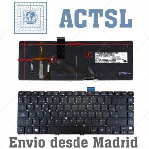 Teclado con retroiluminación Backlit para Acer Aspire Ultrabook M5-481 Series M5-481TG