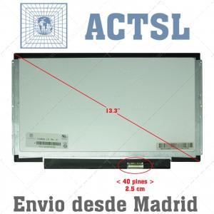 "Pantalla Screen 13.3"" (39.62cm) Inch 40pin Glossy Brillo Brackets Laterales WXGA (1366x768)  HD"