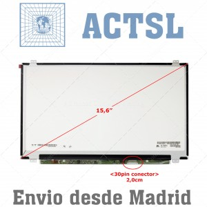 "Pantalla Screen 15.6"" Inch 30pin MATE Brackets Arriba-Abajo WUXGA (1920x1080) Full HD"