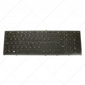 Teclado para portátil Hp Zbook 15 G3 17 G3 Black Frame Black Retroiluminado PointStick