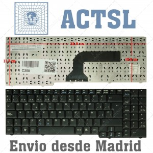 Teclado para portátil ASUS F7 G50G M50 G71 X70 Series
