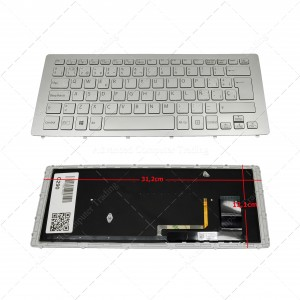 Teclado para portátil Sony Vaio SVF15N Fit 15A multi-flip PC  Ñ