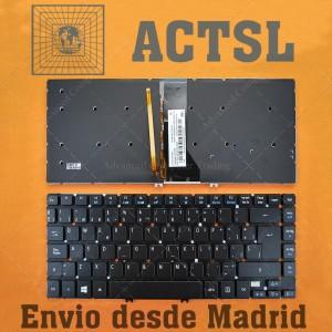 Teclado para portátil Acer Aspire R7 R7-571 R7-572 Retroiluminado