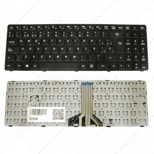 Teclado para portátil Lenovo Ideapad 100-15Ibd Black Frame Black (Long Cable)