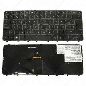 Teclado para portátil HP Folio 13 13-1000 13-2000 Glossy Frame Black (Backlit)