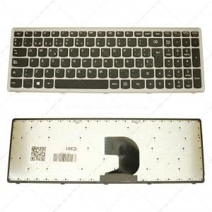 Teclado para portátil Lenovo Z500 Silver Frame Black 25206531 V136520ek1