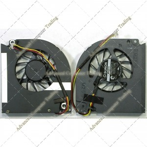 ACER Tm5520 Tm5710/Aspire 7000 7100 7110 9300 9400 9410 9410Z Fan Gb0507pgv1-A