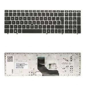HP 8560P Silver Frame Black (With Point Stick) Spanish Sp Hx2ug 9Z.N6guf.20S 55011M100-035-G 641181-071